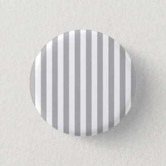 Grey Vertical Stripes 3 Cm Round Badge