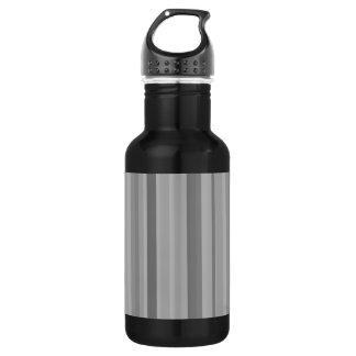 Grey vertical stripes 532 ml water bottle
