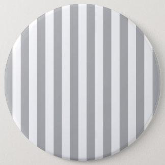 Grey Vertical Stripes 6 Cm Round Badge