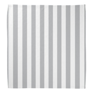 Grey Vertical Stripes Bandana