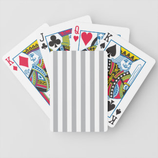 Grey Vertical Stripes Bicycle Playing Cards