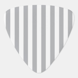 Grey Vertical Stripes Guitar Pick