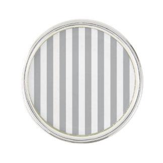 Grey Vertical Stripes Lapel Pin