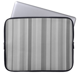 Grey vertical stripes laptop sleeve