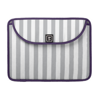 Grey Vertical Stripes MacBook Pro Sleeve
