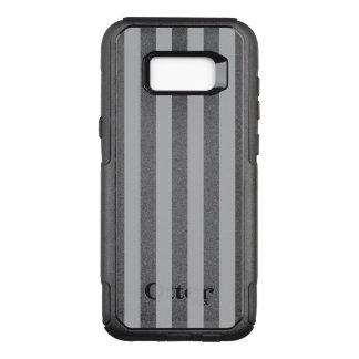 Grey Vertical Stripes OtterBox Commuter Samsung Galaxy S8+ Case