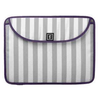 Grey Vertical Stripes Sleeve For MacBooks