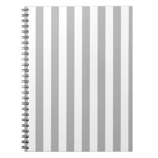 Grey Vertical Stripes Spiral Note Book