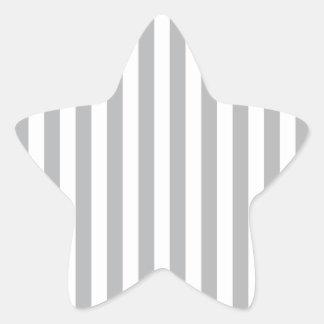 Grey Vertical Stripes Star Sticker