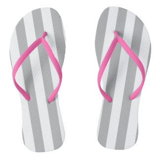 Grey Vertical Stripes Thongs