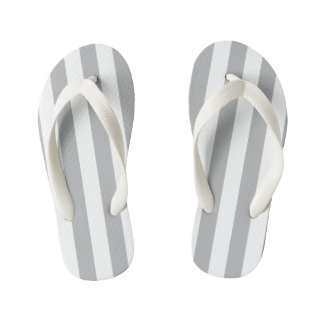 Grey Vertical Stripes Thongs