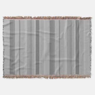 Grey vertical stripes throw blanket