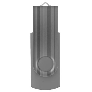 Grey vertical stripes USB flash drive