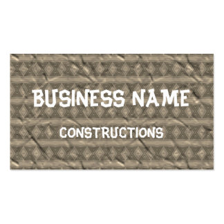 Grey vertical tribal pattern business card