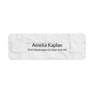 Grey Wall Modern Plain Minimalist Creative Return Address Label
