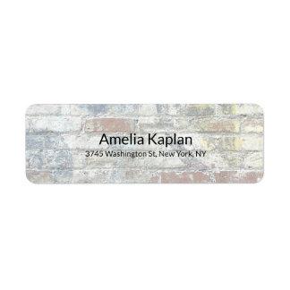 Grey Wall Modern Plain Minimalist Professional Return Address Label