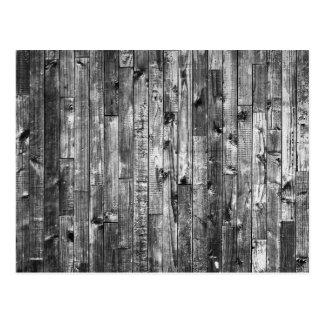 Grey Weathered Wood Wall Texture Postcard