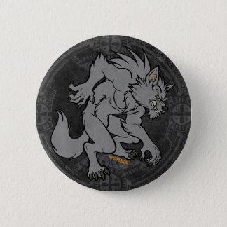 Grey Werewolf 6 Cm Round Badge