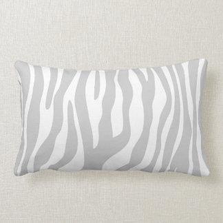 Grey & White Animal Print Pattern Lumbar Cushion