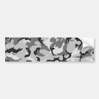 Grey White Black Camouflage Bumper Sticker