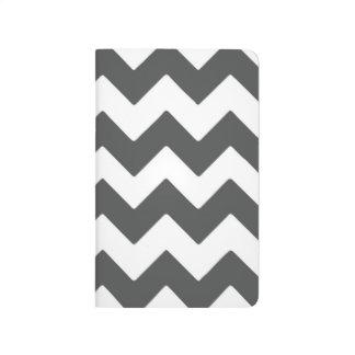Grey & White Chevron Pocket Journal