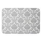 Grey & White Damask Pattern{pick your colour} Bath Mat