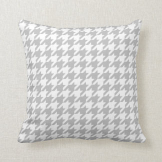 Grey & White Houndstooth | Any Size | Customisable Throw Pillow