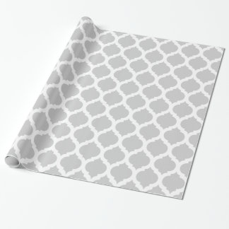 Grey & White Moroccan Pattern Wrapping Paper