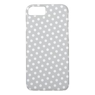 Grey & White Polka Dot Pattern iPhone 7 Case