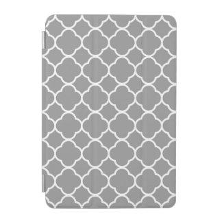 Grey & White Quatrefoil Custom iPad Smart Cover iPad Mini Cover