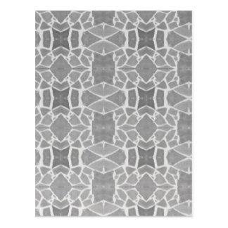 Grey White Stone Tiles Mosaic Pattern Postcard