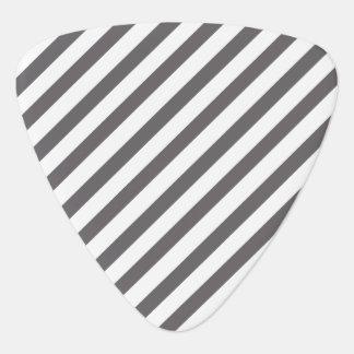 Grey & White Striped - Guitar pick