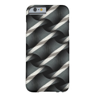 Grey + White Weave Funky Pattern iPhone 6 case Barely There iPhone 6 Case