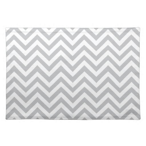 Grey & White Zig Zags Placemats
