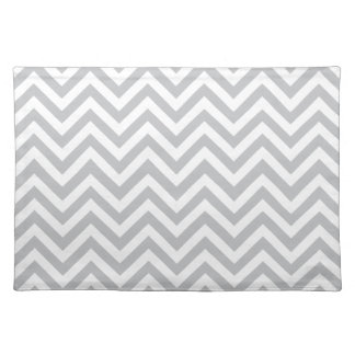 Grey & White Zig Zags Placemat