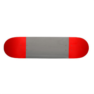 Grey with Red Tips Skate Board