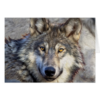 Grey Wolf Greeting Cards