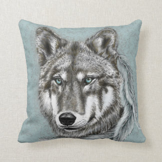 Grey Wolf Cushion