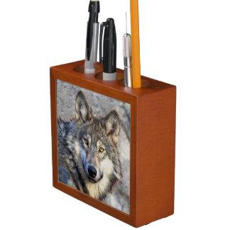 Grey Wolf Desk Organizer