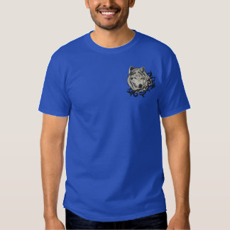 Grey Wolf Embroidered T-Shirt