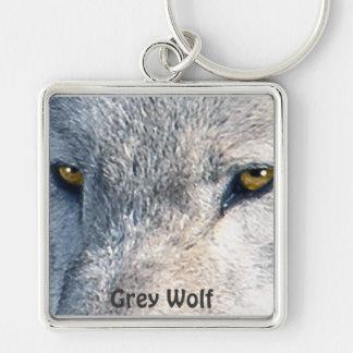 GREY WOLF EYES Wildlife Art Key-chain Key Ring