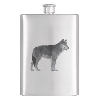 Grey Wolf Flask