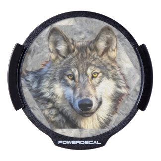 Grey Wolf LED Car Decal