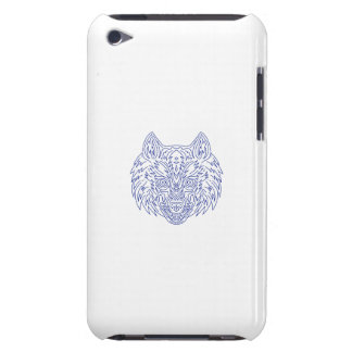 Grey Wolf Head Mono Line Barely There iPod Cover
