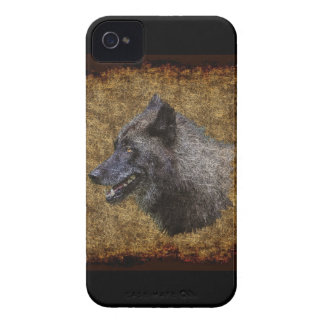 Grey Wolf Head Wildlife Art Blackberry Case