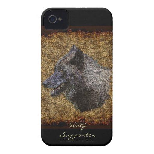 Grey Wolf Head Wolf Supporter Art Blackberry Case