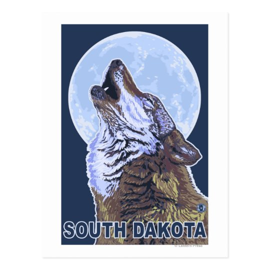 Grey Wolf HowlingSouth Dakota Postcard