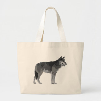 Grey Wolf Large Tote Bag