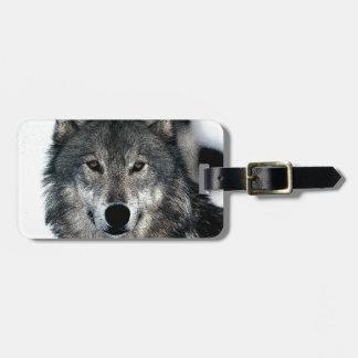 Grey Wolf Luggage Tag
