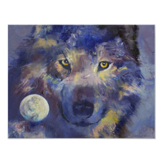 Grey Wolf Moon Invitation